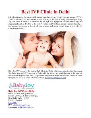 Best IVF Clinic in Delhi