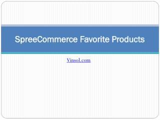 SpreeCommerce Favorite Products