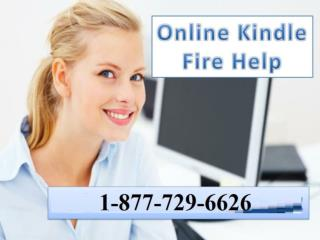 Get Instant Help from Kindle Fire Help Number 1-877-729-6626.