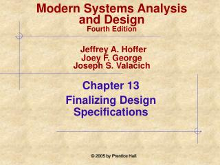 Chapter 13  Finalizing Design Specifications