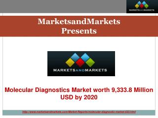 Molecular Diagnostics Market by Technology & Application - 2020 | MarketsandMarkets