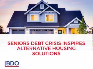 Senior Debt Crisis Inspires Alternative Housing Solutions