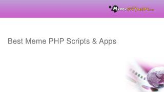 Best Meme PHP Scripts & Apps