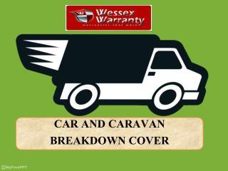 CAR AND CARAVAN BREAKDOWN COVER