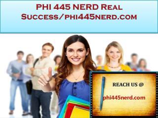 PHI 445 NERD Real Success/phi445nerd.com
