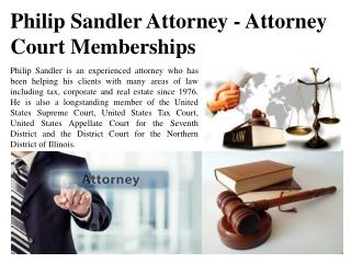Philip Sandler Attorney - Attorney Court Memberships