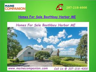 Homes For Sale Boothbay Harbor ME
