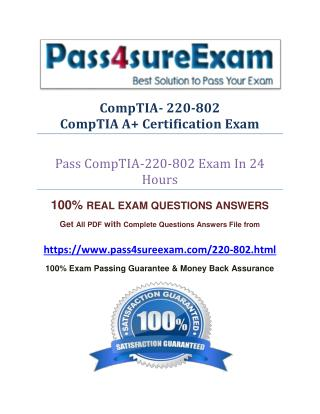 Pass4sure 220-802 Practice Test
