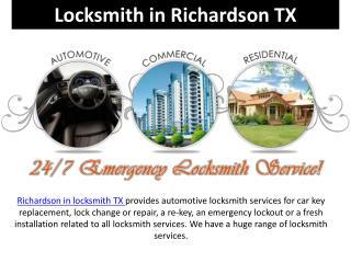 Locksmith in richardson TX