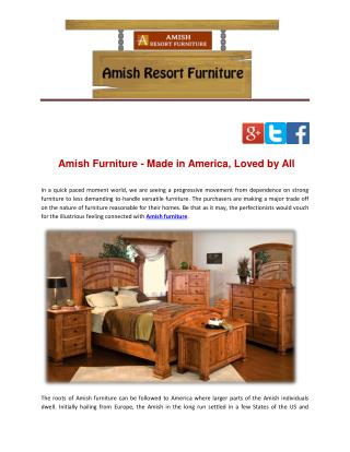 Amish Furniture - Made in America, Loved by All