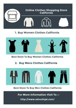 Buy Trendy Clothes From Online Clothes Shopping Store California