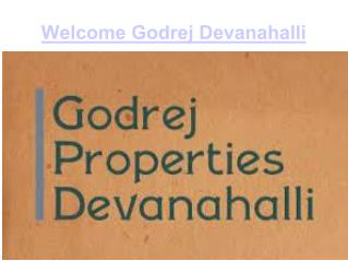 Godrej Devanahalli Apartments Project in Bangalore