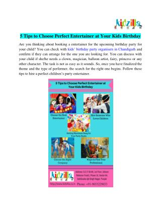 Kids Birthday Party Organisers Chandigarh