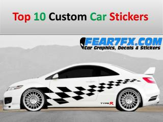 Top 10 Custom Car Stickers