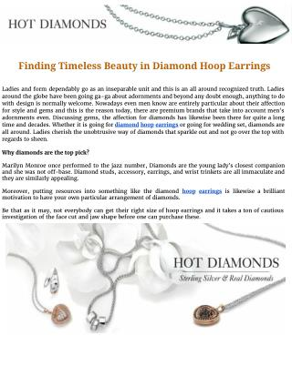 Finding timeless beauty in diamond hoop earrings