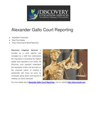 Alexander Gallo Court Reporting