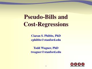 Pseudo-Bills and  Cost-Regressions