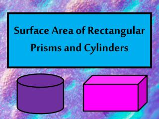 Surface Area of Rectangular Prisms and Cylinders