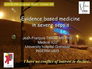 Evidence based medicine  in severe sepsis