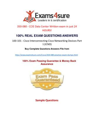 350-080 Exam Questions