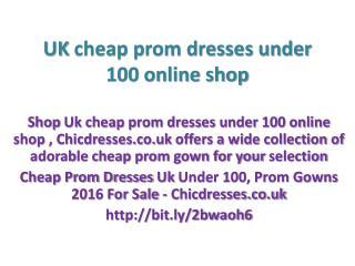 Cheap Prom Dresses Uk Under 100