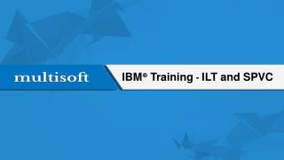 IBM Training – ILT and SPVC