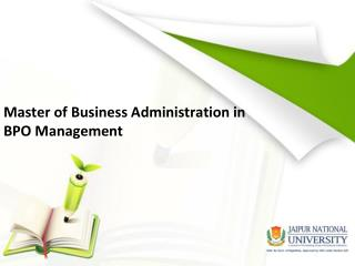 MBA in BPO Management