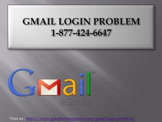 Gmail login problem (877)-424-6647 contact  Number