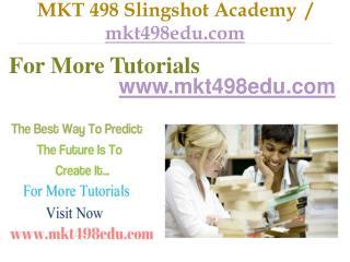 MKT 498 Slingshot Academy  / mkt498edu.com