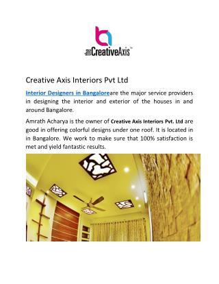 Creative Axis Interior Designers in Bangalore