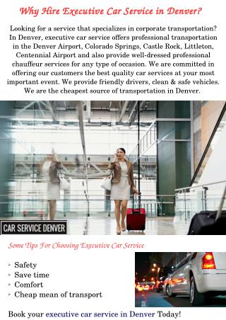 Executive Car Service in Denver