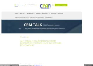 Why CRMAA is Condidered The Prime Destination for Excellence in Customer Relationship