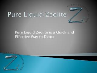 Pure Liquid Zeolite