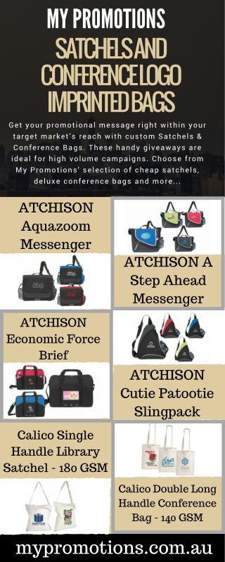 Satchels and Conference Logo Imprinted Bags
