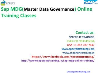 Sap mdg (master data governance)online training | sap mdg online training