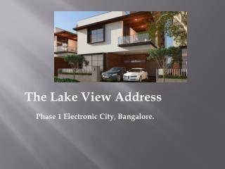 The Lake View Address Electronic City Bangalore