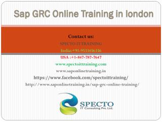 SAP GRC(Governance Risk and Compliance)  online training | SAP GRC 10.0 online training-specto