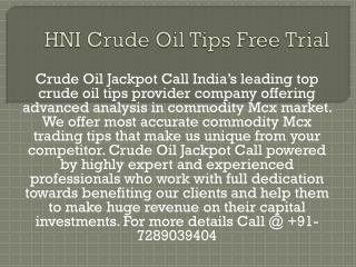 Mcx HNI Tips in Crude Oil