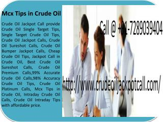 Best Crude Oil HNI Sureshot Calls