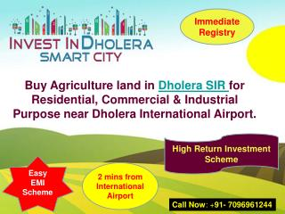 Buy Agriculture Land in Dholera SIR