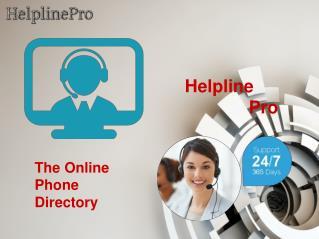 Online Phone  Number Directory-Helpline Pro