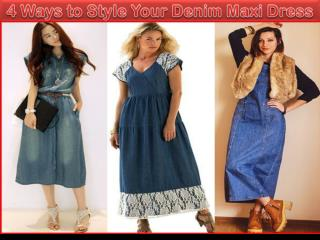 4 Ways to Style Your Denim Maxi Dress