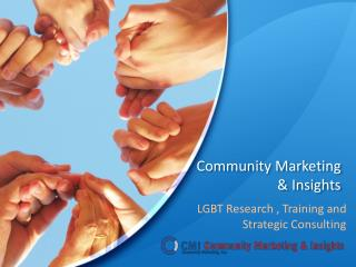 CMI LGBT Research, Marketing and Training