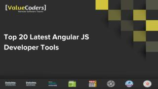 Top 20 Latest Angular JS Developer Tools