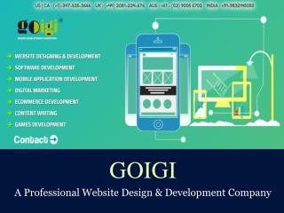 GOIGI - Website Design and Development Portfolio