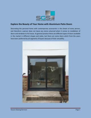 Explore the Beauty of Your Home with Aluminium Patio Doors