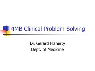 4MB Clinical Problem-Solving