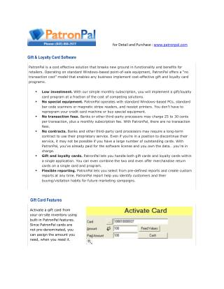 How can Work Patronpal Gift card Software ?