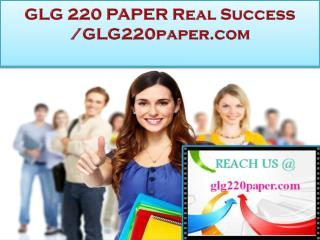 GLG 220 PAPER Real Success /glg220paper.com