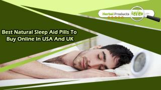 Best Natural Sleep Aid Pills To Buy Online In USA And UK